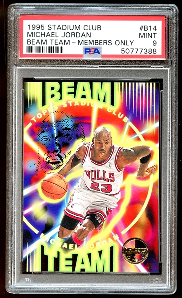 1995 Topps Stadium Club #B14 Michael Jordan Beam Team Members Only PSA 9 MINT