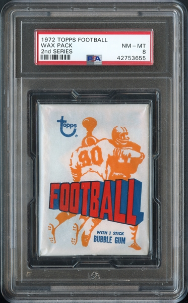 1972 Topps Football Wax Pack 2nd Series PSA 8 NM-MT