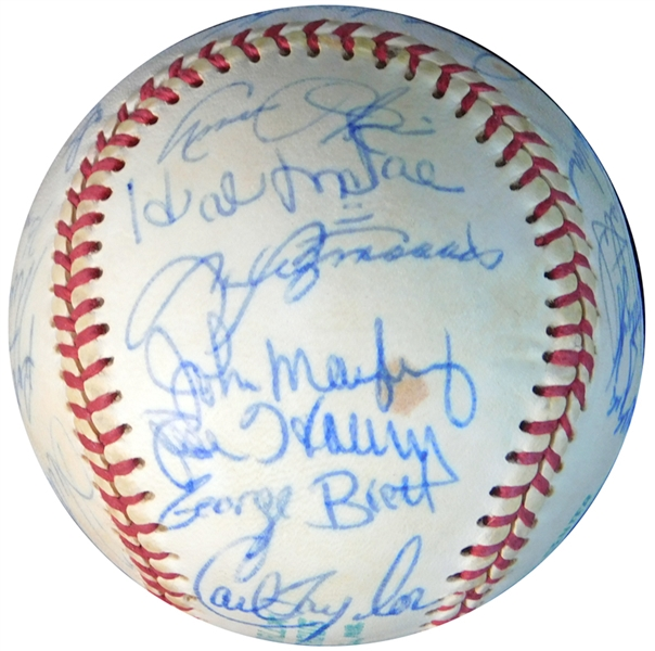 1973 Kansas City Royals Team-Signed OAL (Cronin) Ball with (24) Signatures Featuring George Brett