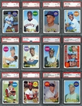 1969 Topps Exceptionally High Grade Complete Set Completely PSA Graded #23 on PSA Set Registry 8.15 GPA