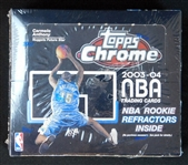 2003-04 Topps Chrome NBA Unopened Retail Box (24 Packs)