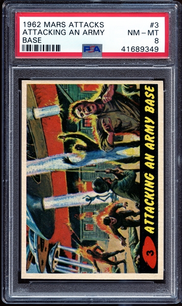 1962 Mars Attacks #3 Attacking an Army Base PSA 8 NM-MT