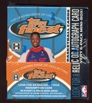 2005-06 Topps Finest Basketball Unopened Master Box