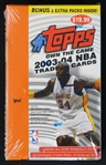 2003-04 Topps Own the Game Basketball Unopened Retail Box