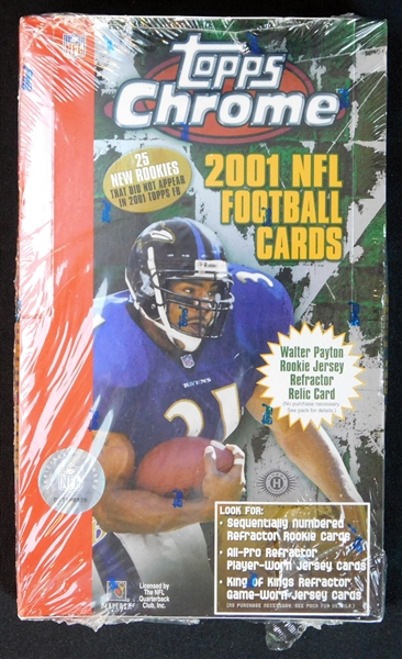2001 Topps Chrome Football Unopened Hobby Box