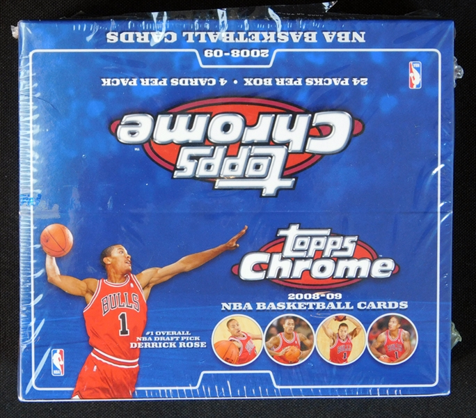 2008-09 Topps Chrome Basketball Unopened Box