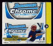 2011 Bowman Chrome Baseball Unopened Retail Box