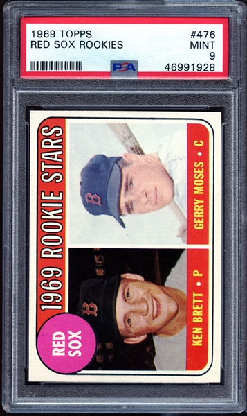1969 Topps #476 Red Sox Rookies PSA 9 MINT