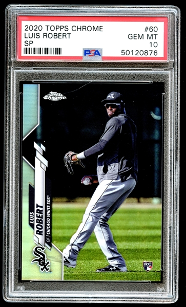 2020 Topps Chrome #60 Luis Robert SP PSA 10 GEM MT
