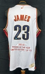 "LeBron James Upper Deck Authenticated Limited Edition ""Rookie of the Year"" Autographed Jersey 110/123"