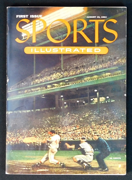 1954 Sports Illustrated First Issue with 1954 Topps Paper Cards