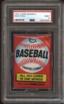 1974 Topps Baseball Unopened Wax Pack PSA 9 MINT