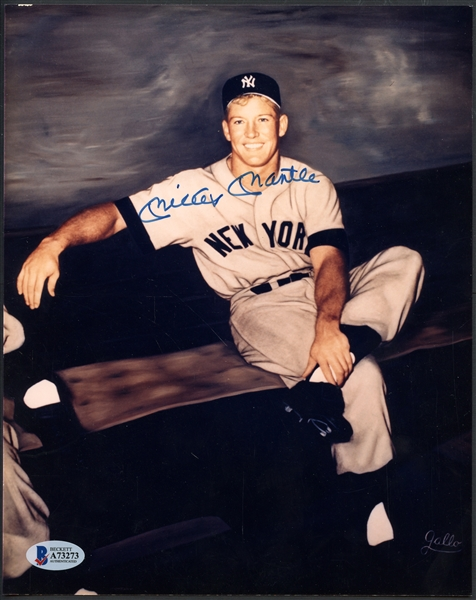 Mickey Mantle Signed Photo - BAS