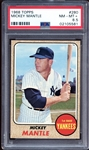 1968 Topps #280 Mickey Mantle PSA 8.5 NM/MT+