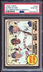 1968 Topps #490 Super Stars Killebrew/Mays/Mantle PSA 10 GEM MINT