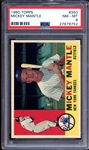 1960 Topps #350 Mickey Mantle PSA 8 NM/MT