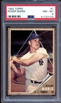 1962 Topps #1 Roger Maris PSA 8 NM/MT