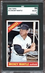 1966 Topps #50 Mickey Mantle SGC 8 NM/MT