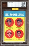 1963 Topps #537 Pete Rose BVG 8.5 NM/MT+ MBA GOLD