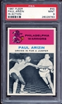 1961 Fleer #45 Paul Arizin In Action PSA 9 MINT