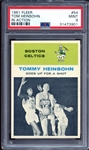 1961 Fleer #54 Tom Heinsohn In Action PSA 9 MINT