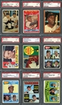 1950s-80s Star and Rookie Lot of (15) PSA Graded Cards