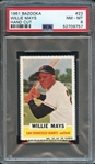 1961 Bazooka #23 Willie Mays Hand Cut PSA 8 NM-MT
