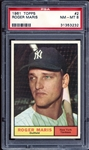 1961 Topps #2 Roger Maris PSA 8 NM/MT