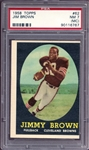 1958 Topps #62 Jim Brown PSA 7 NM (MC)