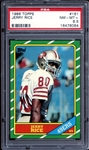 1986 Topps #161 Jerry Rice PSA 8.5 NM/MT+
