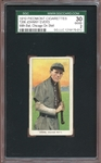 1909-11 T206 Piedmont 350-25 Johnny Evers With Bat Chicago on Shirt SGC 2 GOOD