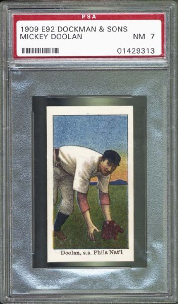 1909 E92 Dockman & Sons Mickey Doolan PSA 7 NM
