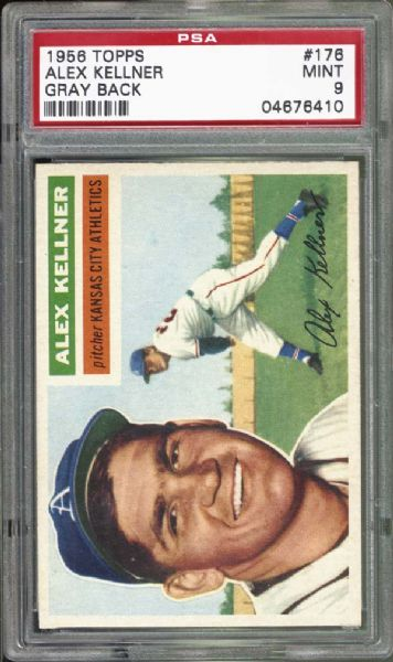 1956 Topps #176 Alex Kellner PSA 9 MINT