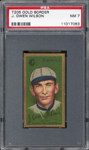 1911 T205 Gold Border J.Owen Wilson PSA 7 NM