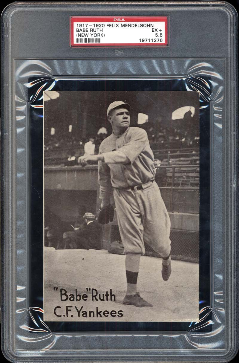 1917-20 M101-6 Babe Ruth (New York) PSA 5.5