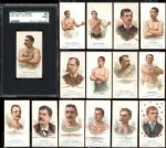 1887 Allen & Ginter N28 Group of 15 with John L. Sullivan