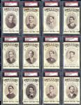 Exceptionally Scarce 1906 Lincoln Publishing Postcards Near Complete Set (12/20)
