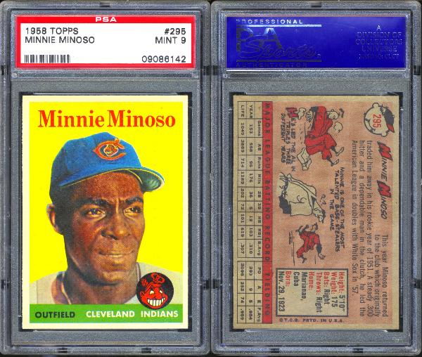 1958 Topps #295 Minnie Minoso PSA 9 MINT