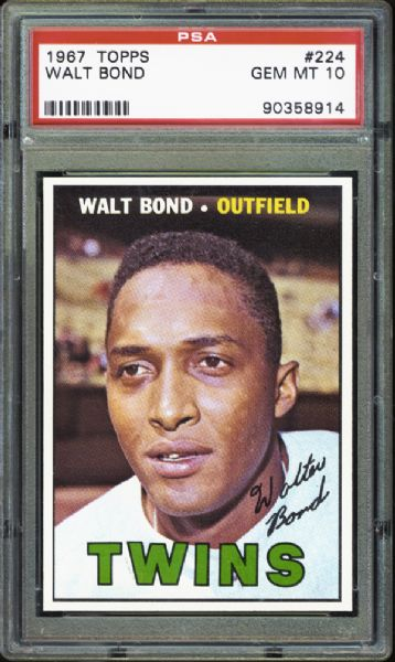 1967 Topps #224 Walt Bond PSA 10 GEM MINT