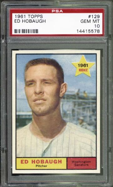 1961 Topps #129 Ed Hobaugh PSA 10 GEM MINT