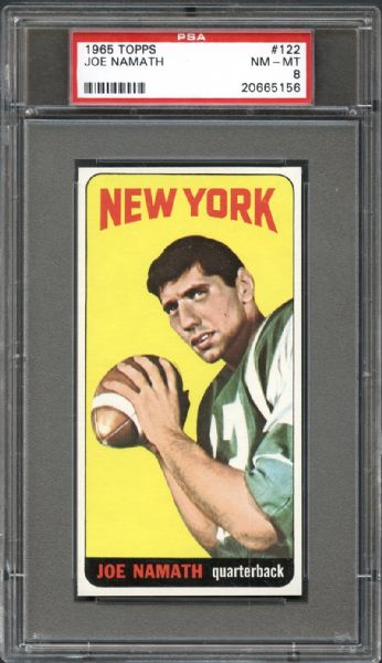 football cards, joe namath, vintage collectible cards