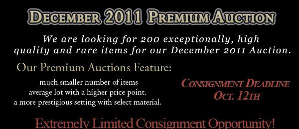 MHCC's December 2011 Premium Auction