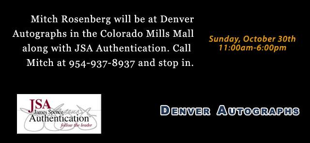 Meet us in Denver! October 30th