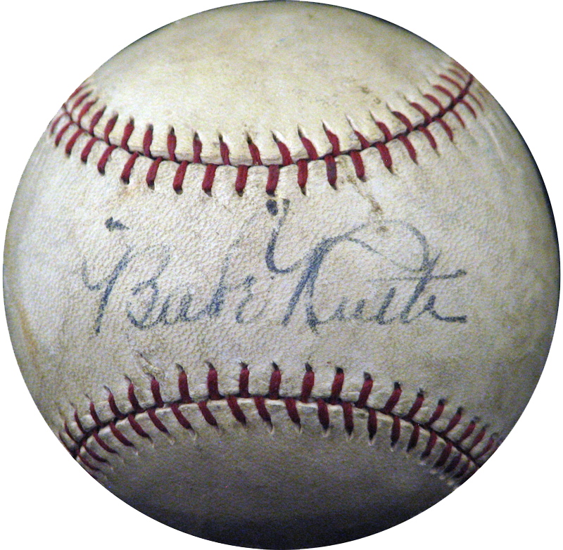 babe ruth, autographed ball, sports memorabilia