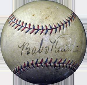 vintage memorabilia, signed baseball, Babe Ruth, Al Capone