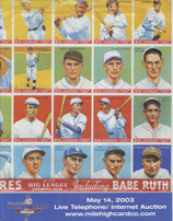 baseball card auctions