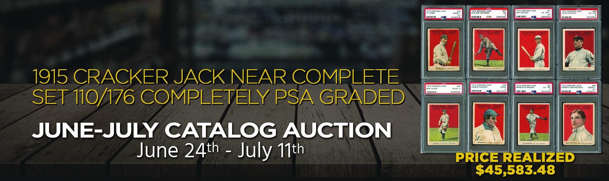 1915 Cracker Jack Set Completely PSA Graded