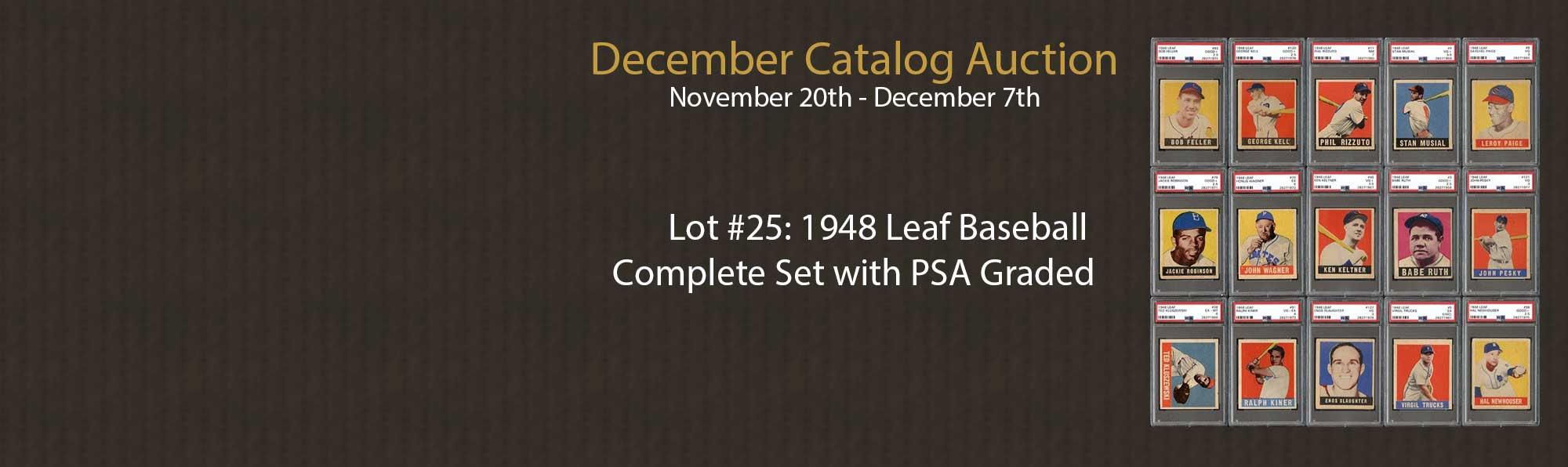 1948 Leaf Baseball  Complete Set with PSA Graded