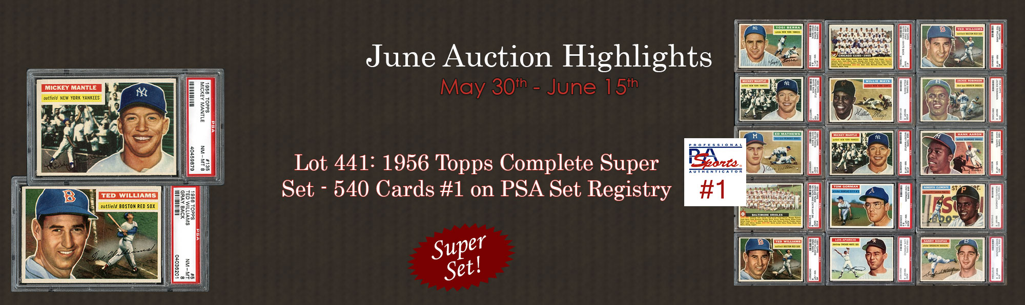 1956 Topps Complete Super Set - 540 Cards #1 on PSA Set Registry