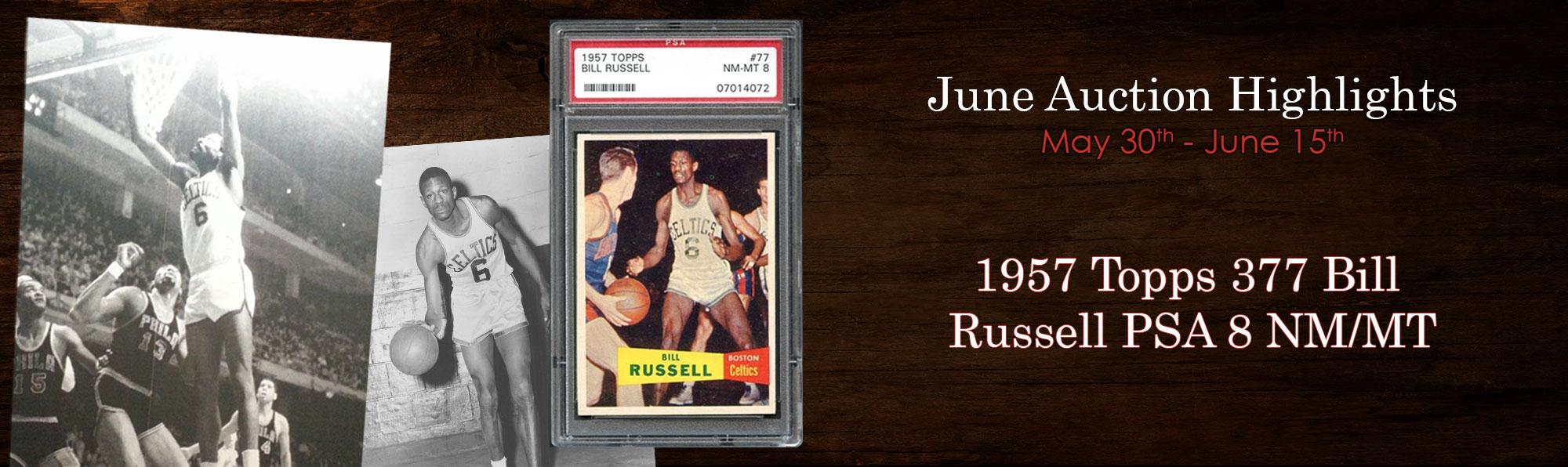 1957 Topps 377 Bill Russell PSA 8 NM/MT